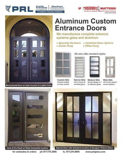 Custom Aluminum Entrance Doors - Storefront
