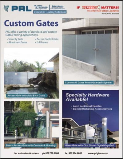 Custom Glass Gates