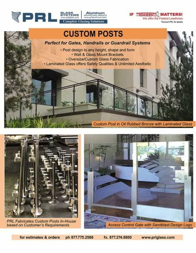 Custom Handrail and Guardrail Posts