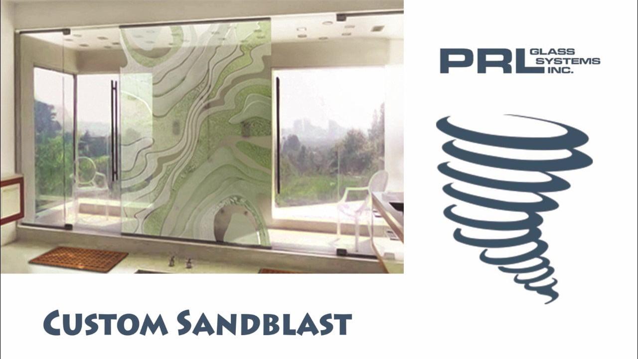 Custom Sandblasted Glass Video