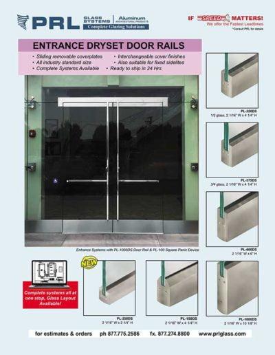 dryset door rails