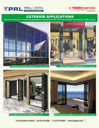 Exterior Glass Door Applications