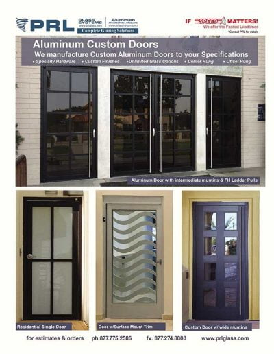 Fabricated Aluminum Doors