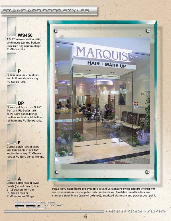 Styles to fit the most sophisticated Frameless Heculite Door Designs.