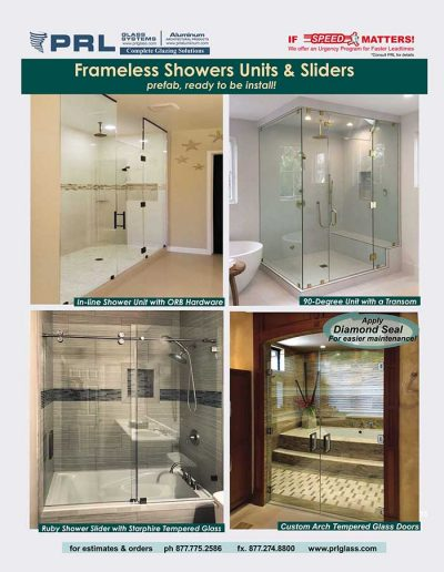 Frameless Shower Units