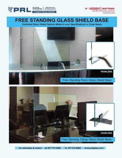 free standing glass shield base