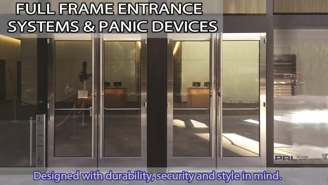 Full Frame Cladded Doors Including Panic Device Video