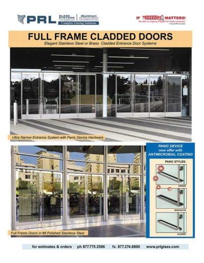full framed aluminum entrance doors