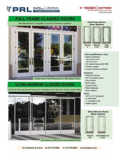 full frame aluminum entrance doors