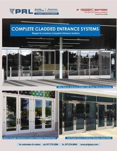 full framed aluminum glass doors