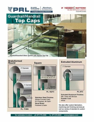 Guardrail/Handrail Components - Top Caps
