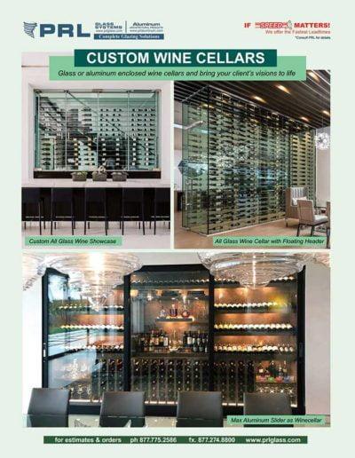 glass and aluminum wine cellars