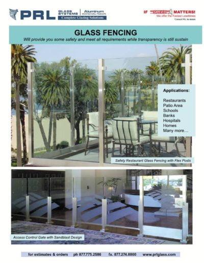 glass fences