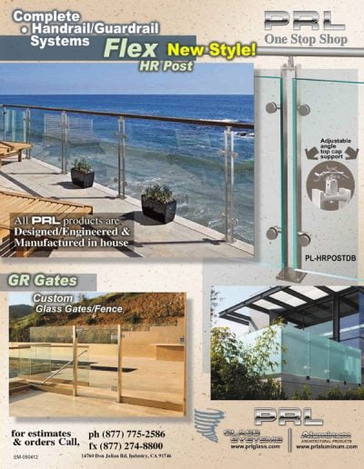 Glass Post Railing System