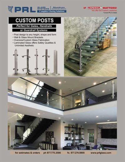 handrail and guardrail post