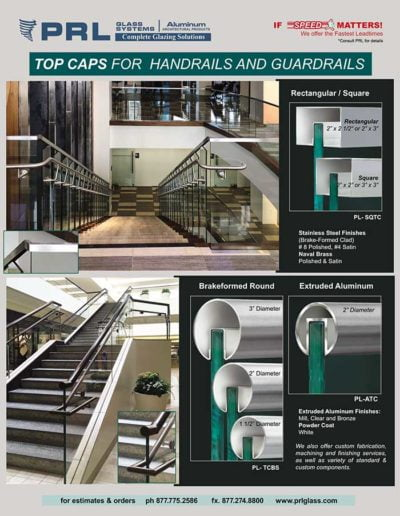 handrail top caps