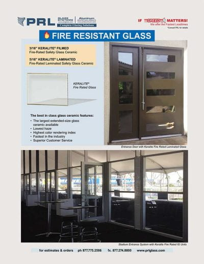 Keralite® Fire Rated Glass