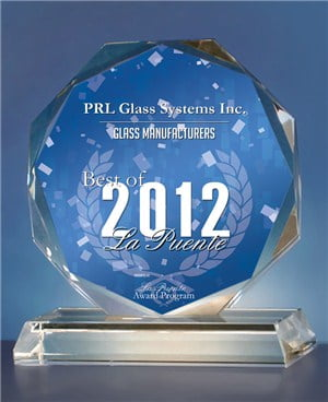 La Puente Glass Manufacturers Award