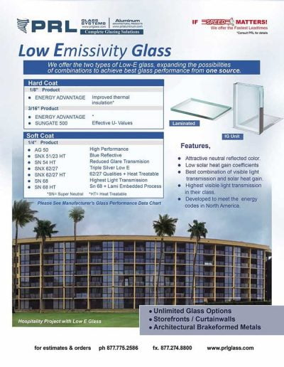 Low Emissivity Glass