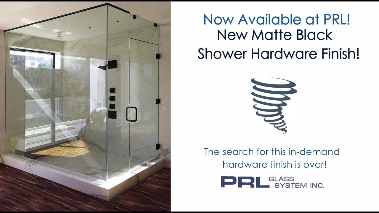 Matte Black Shower Hardware 1 Video