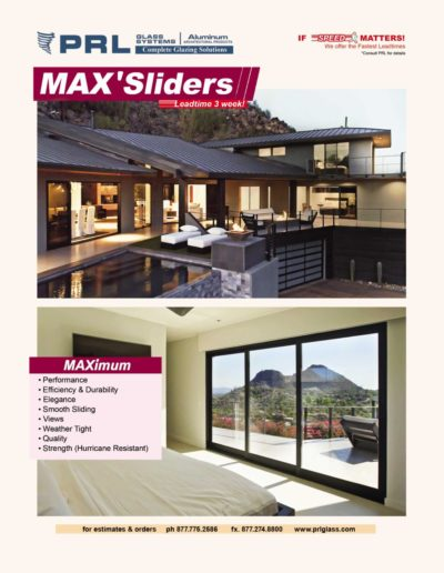 max aluminum sliding doors