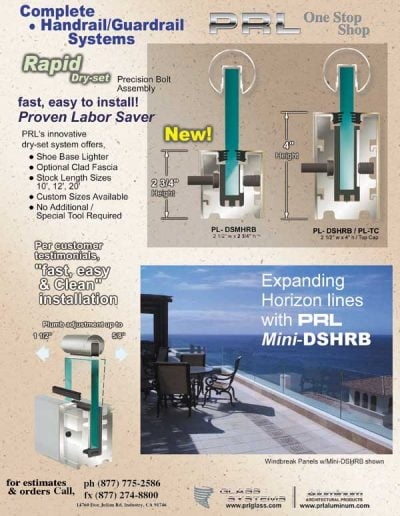 New Raipd Low Profile Handrail Base System