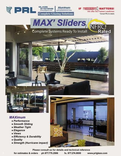 NFRC Certified Aluminum Sliding Glass Doors