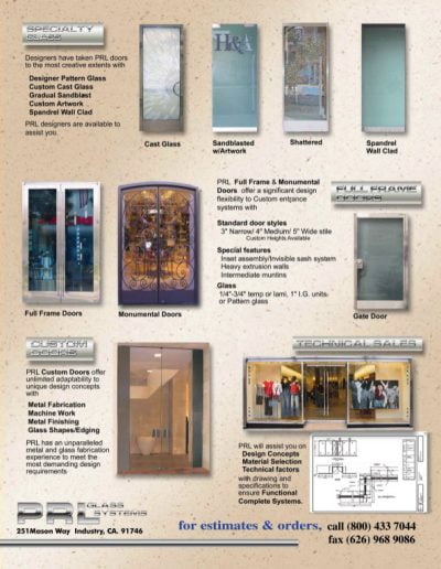 Custom Doors & Specialty Glass