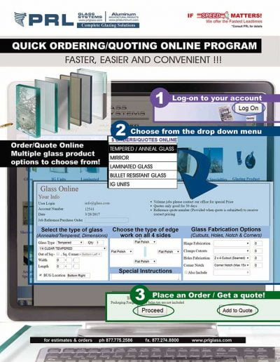 Online Ordering and Quoting