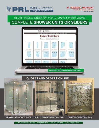 order frameless showers online