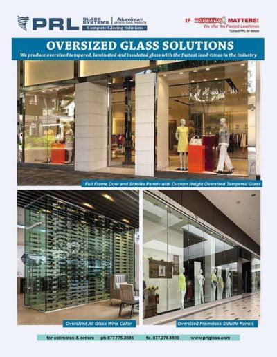 oversized glass panels