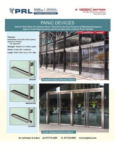 prl panic door devices