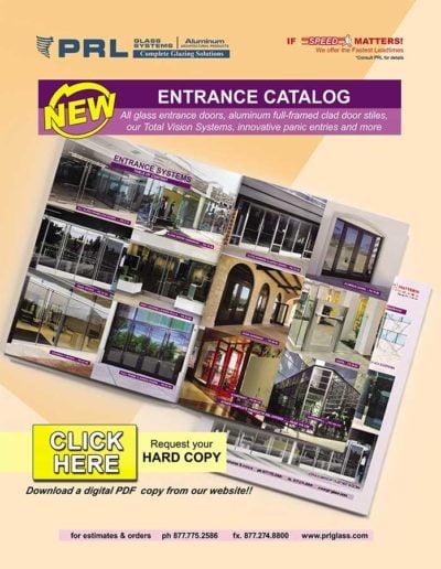 prl 2020 catalog glass entrance doors