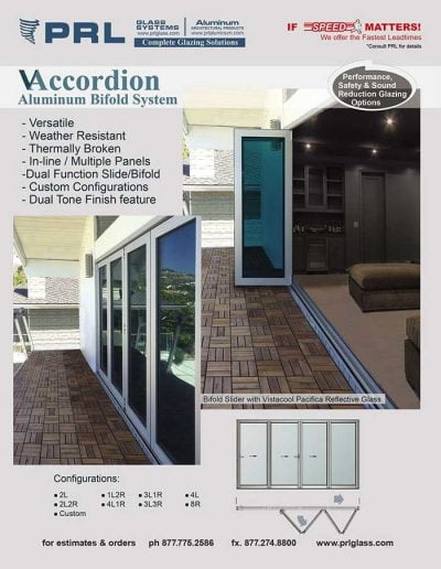 PRL Aluminum Bifold Accordion Doors