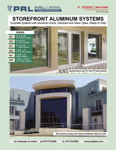 prl aluminum storefronts