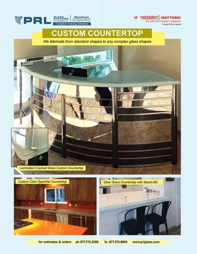 prl custom glass countertops