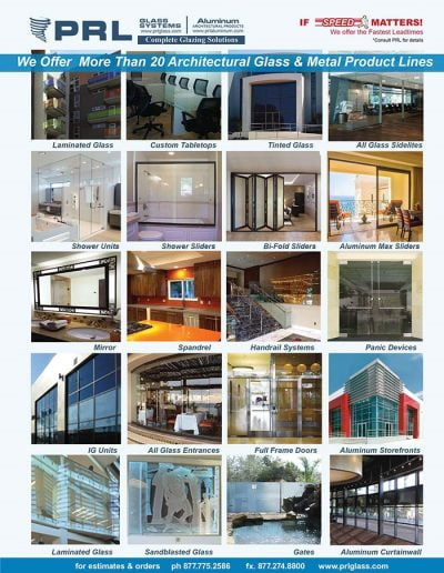 PRL Glazing Products