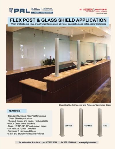 prl protective glass shields