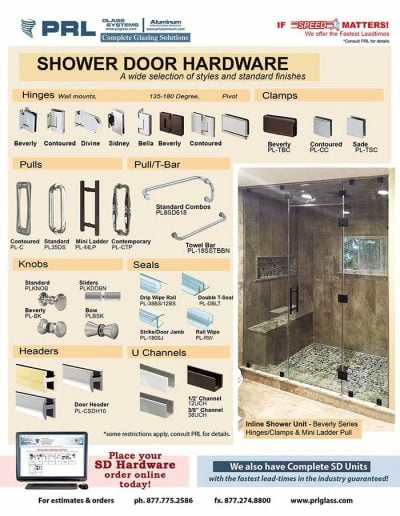 PRL Shower Door Hardware