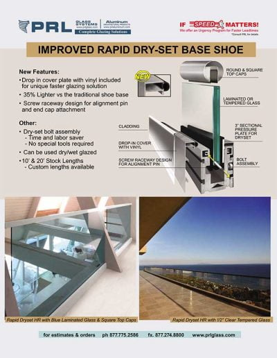 Rapid Dry-Set Base Shoe