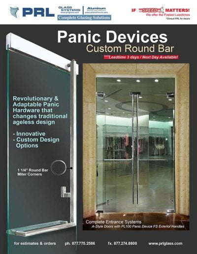 Round Bar Handle Panic Device