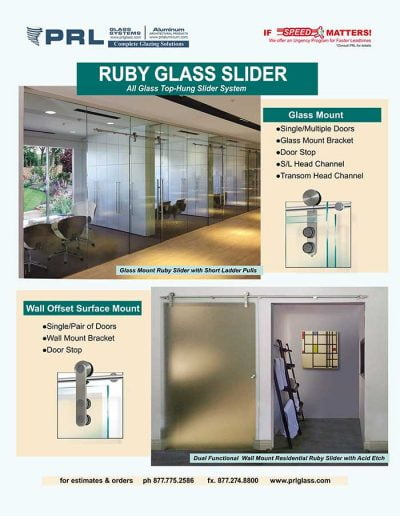 Ruby All Glass Sliders