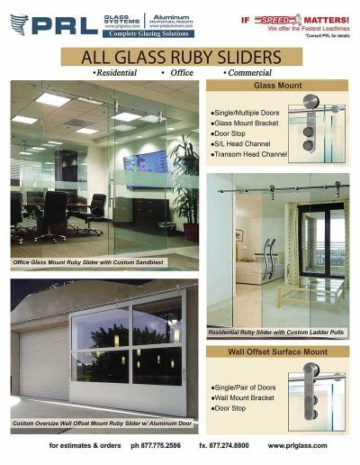 Ruby All Glass Sliding System