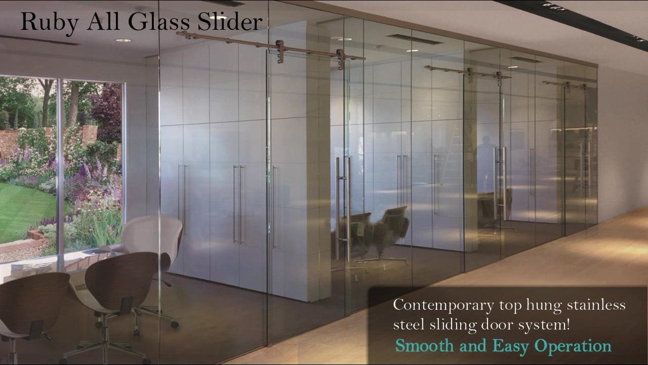 Ruby All Glass Sliding Doors Video