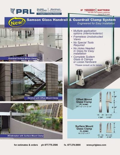 Samson Glass Handrail Clamp System