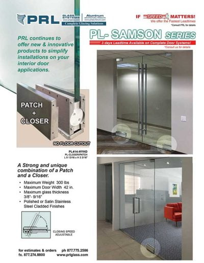 Sampson Hydraulic Door Patch Closer
