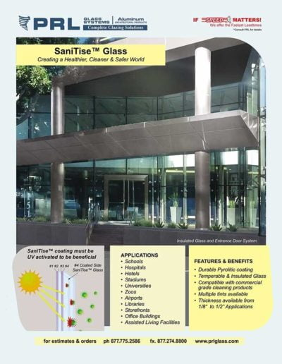sanitise antibacterial glass
