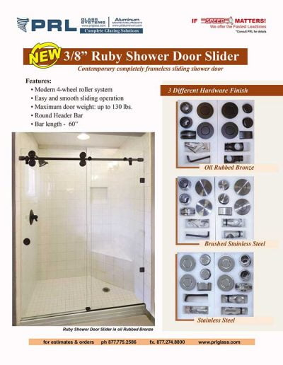 Shower Door Slider