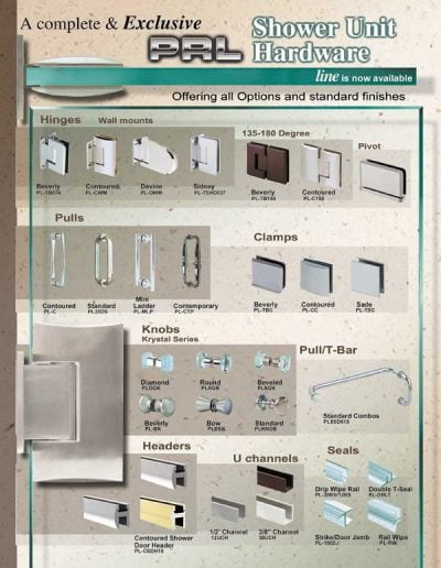 Shower Glass Door Hardware