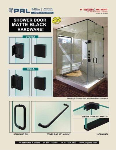 shower hardware matte black